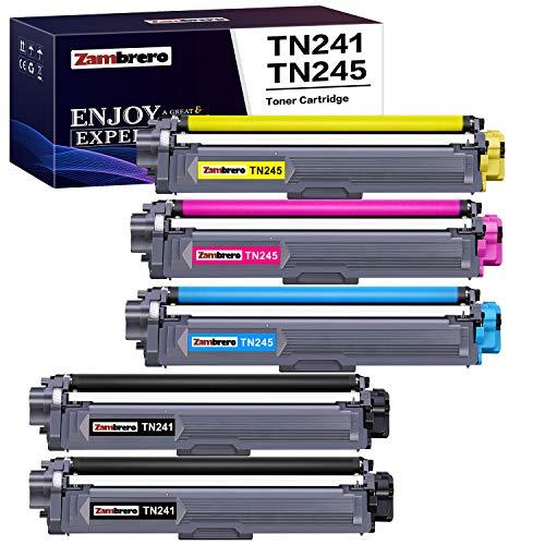 Zambrero TN241 TN245 Toner Druckerpatronen Ersatz für Brother TN-241 TN-245 TN-242 TN-246 für Brother HL-3142CW 3152CDW 3170CDW 3150CDW 3140CW, MFC 9332CDW 9340CDW 9142CDN 9342CDW 9140CDN, DCP 9022CDW