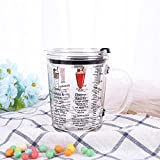 POYANG Taza de Vidrio a Escala Directa de fábrica con 350-400 ml Taza de Desayuno de Leche Taza de Agua de Vidrio Linda Oficina Creativa-Escala 5#_