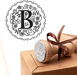 Timbro Lettera B Iniziali Timbri Lettere Alfabeto Monogramma B Idee Regalo Aziendale