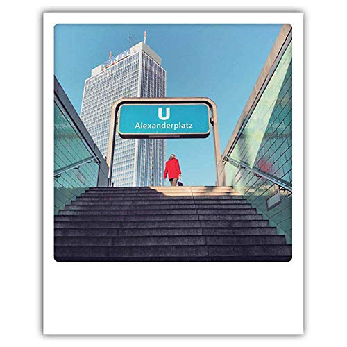 PICKMOTION Photo Postkarte Aus Der Ubahn Im Polaroid-Stil, Designed In Berlin - 1 Stück, Mehrfarbig, 13,0 x 10,5 cm, B-0158-A