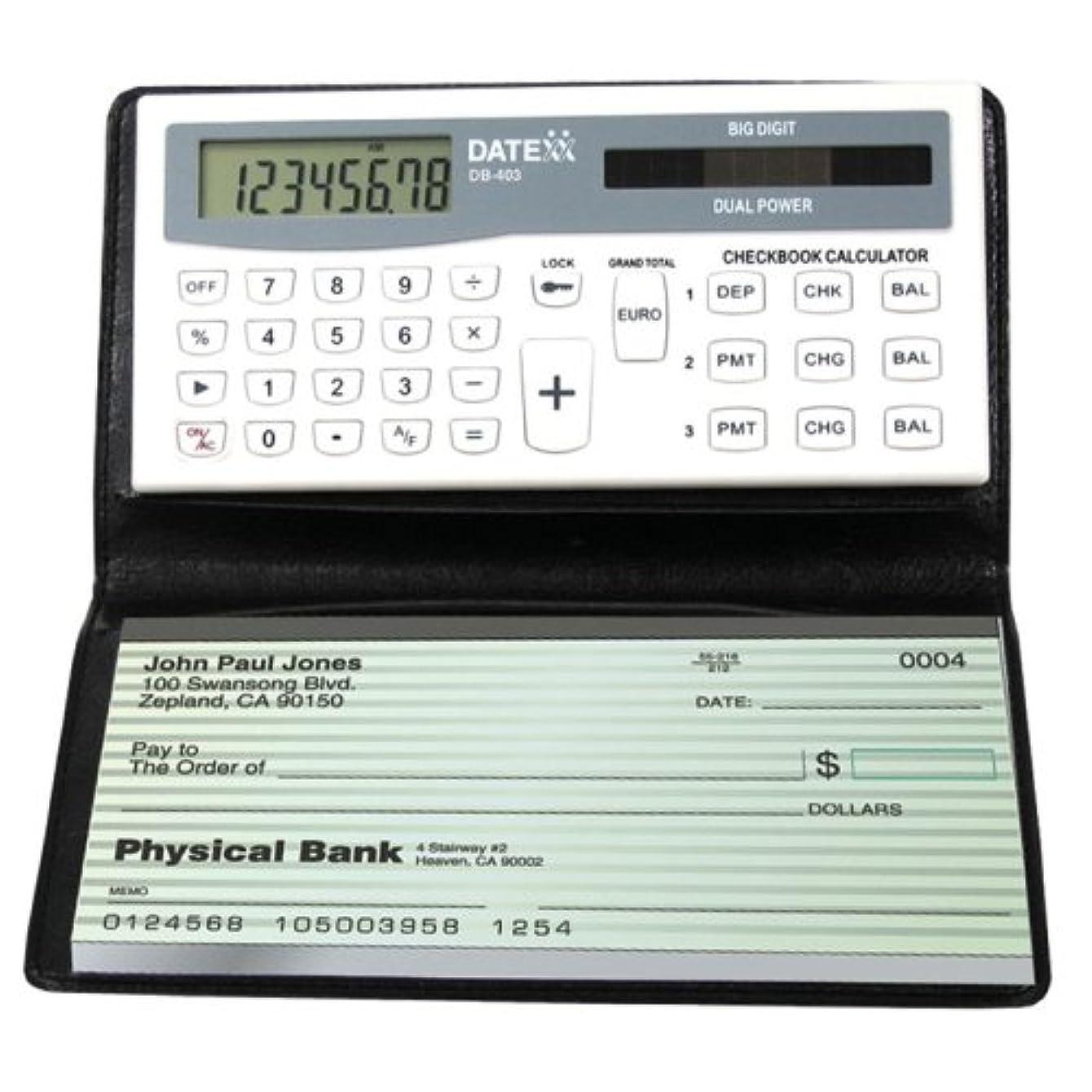 落ち着いた最終的に分離Miles Kimball小切手帳計算機 One Size Fits All