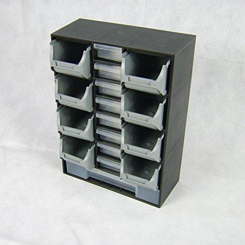 BUZE 17 Fächer Schütten Sortimentsschrank Sortimentskasten Kleinteilemagezin Kunststoff