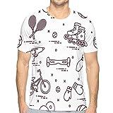 Camisetas de Verano de Manga Corta con Cuello Redondo para Hombre, Rodillos de Bicicleta, gyroscooter S