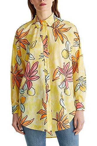 ESPRIT Longbluse mit Print, 100% Baumwolle