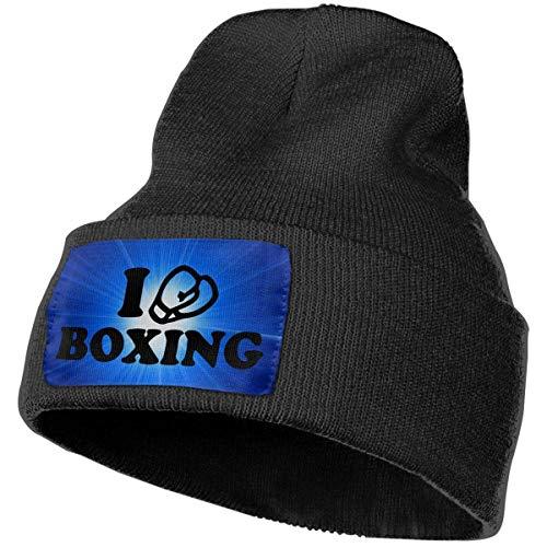 Voxpkrs Men&Women Beanie Hat I Love Boxing Vintage Cuffed Plain Skull Knit Hat Cap Sports & Outdoors Watch Cap Black Design 2185