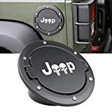 SUNPIE Fuel Filler Door Gas Tank Cap Cover for Jeep Wrangler 07-17 Sport Rubicon Sahara Unlimited Accessories