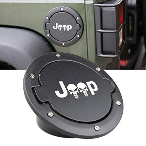 SUNPIE 07-17 JK 4 Doors Fuel Filler Door Gas Tank Cap Cover for Jeep Wrangler 07-17 4 Doors Sport Rubicon Sahara Unlimited Accessories