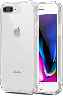 iPhone 7 plus iPhone 8 plus ケース クリア 耐衝撃 透明 ソフト TPU 耐久 シリコン アイフォン7プラス ケース アイフォン8プラス ケース 超軽量 薄型 防塵 Qi充電対応 黄変防止 おしゃれ 指紋防止 一体型 水洗(クリア)