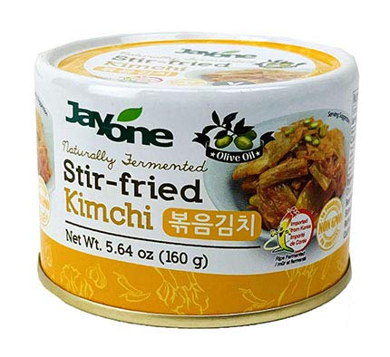 Korean Canned Kimchi, Napa Cabbage Kimchi, Naturally Fermented, Non-GMO, No preservatives, No additives- (Stir-Fried 5.64oz x 12)