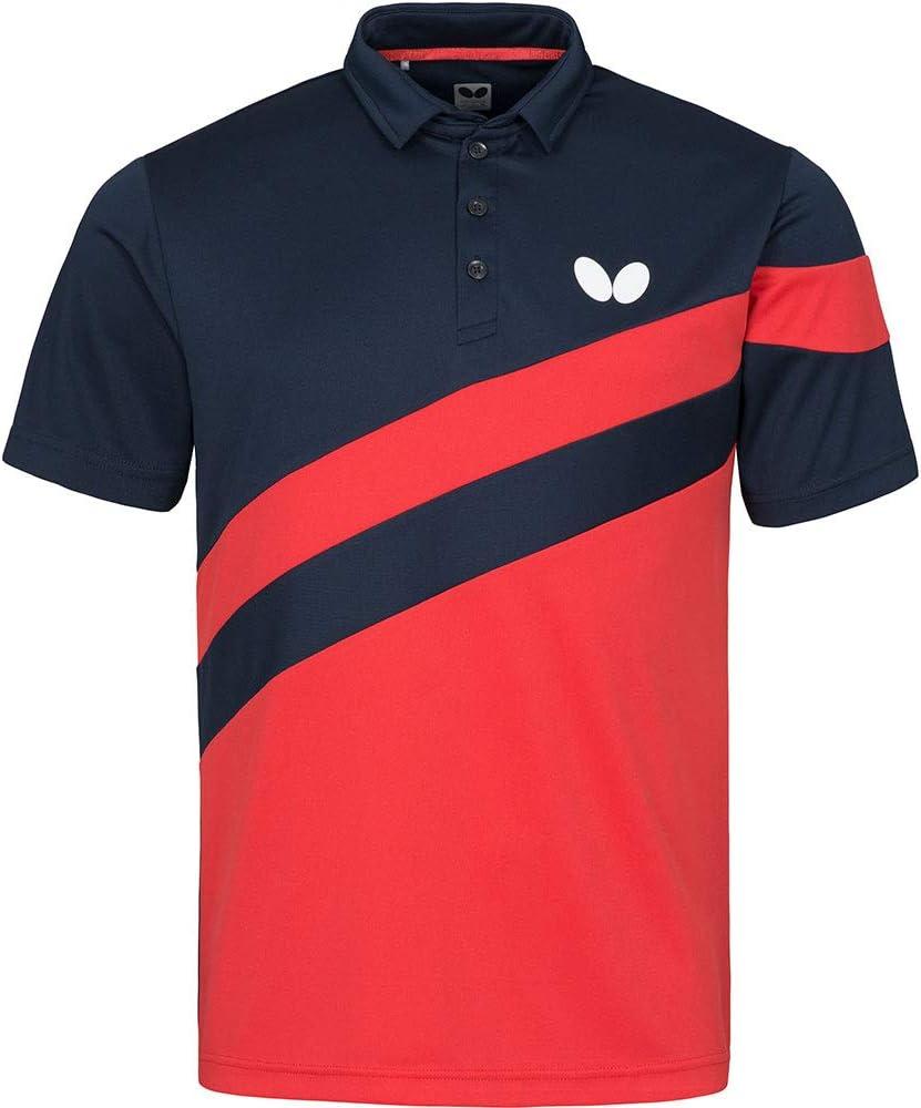 Butterfly Kisa Table Tennis Shirts Sporty Short Sleeve Lightweight Polo Shirt for Men or Women