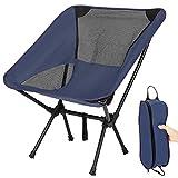 TXIN Klappbarer Campingstuhl -Faltbar Camping Kinder Erwachsene Stühle-Outdoor Stuhl Für Rucksackreisen Bis 120kg Belastbar-Marine