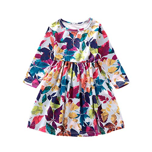 Julhold Toddler Kid Baby Girl Cute Fashion Short Sleeve Cartoon Bird Printed Princess Casual Dress Clothes 1-5 Years