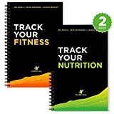 Workout Log Book and Nutrition Log Book - 25-Week Designed by Experts, w/Illustrations : Track Gym Workouts, Track Food Intake and Nutrition: Sturdy Binding, Thick Pages & Laminated, 1 of Each