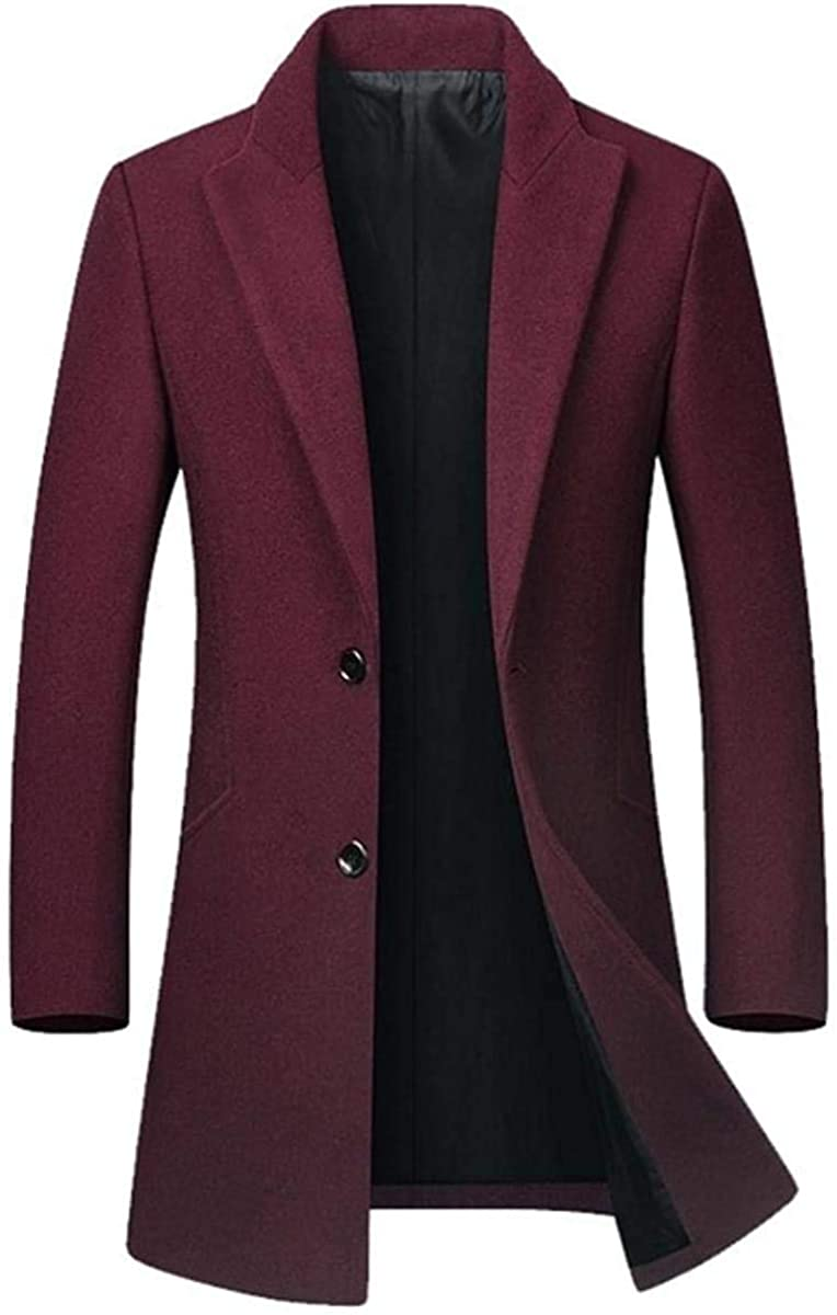 Autumn Winter New Jacket Men Casual Slim Overcoat Plus Size Wool Blends Coat