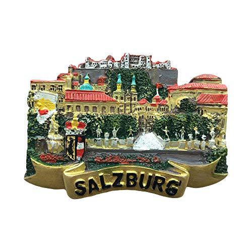 Magnete da frigorifero 3D Salisburgo Austria souvenir da viaggio, Austria magnete per frigorifero casa e cucina decorazione