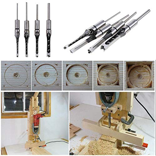 LIANA IRWIN 1Stücke Holzbearbeitungsbohrer Vierkantloch Meißel Einstecksatz Einsteckschloss Werkzeug