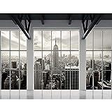 Papel Pintado Fotográfico New York 396 x 280 cm Tipo Fleece no-trenzado Salón Dormitorio Despacho Pasillo Decoración murales decoración de paredes moderna - 100% FABRICADO EN ALEMANIA - 9187012a