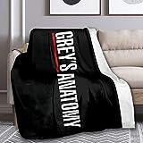 JEILI Greys-Anatomy Home Flannel Throw Blanket Fuzzy Flannel Cozy Warm Luxury Blanket 60'x50'
