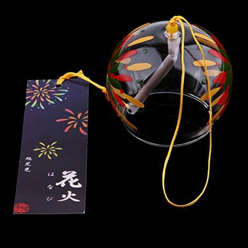 SM SunniMix Japanische Windspiel Kirschblüte Wind Chimes, aus Glas - #16