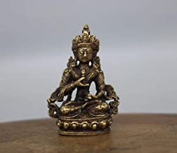 Sculptures Ornaments Statues and Figurines Collectable Brass Carved Tibetan Buddhism Buddha Small Statues