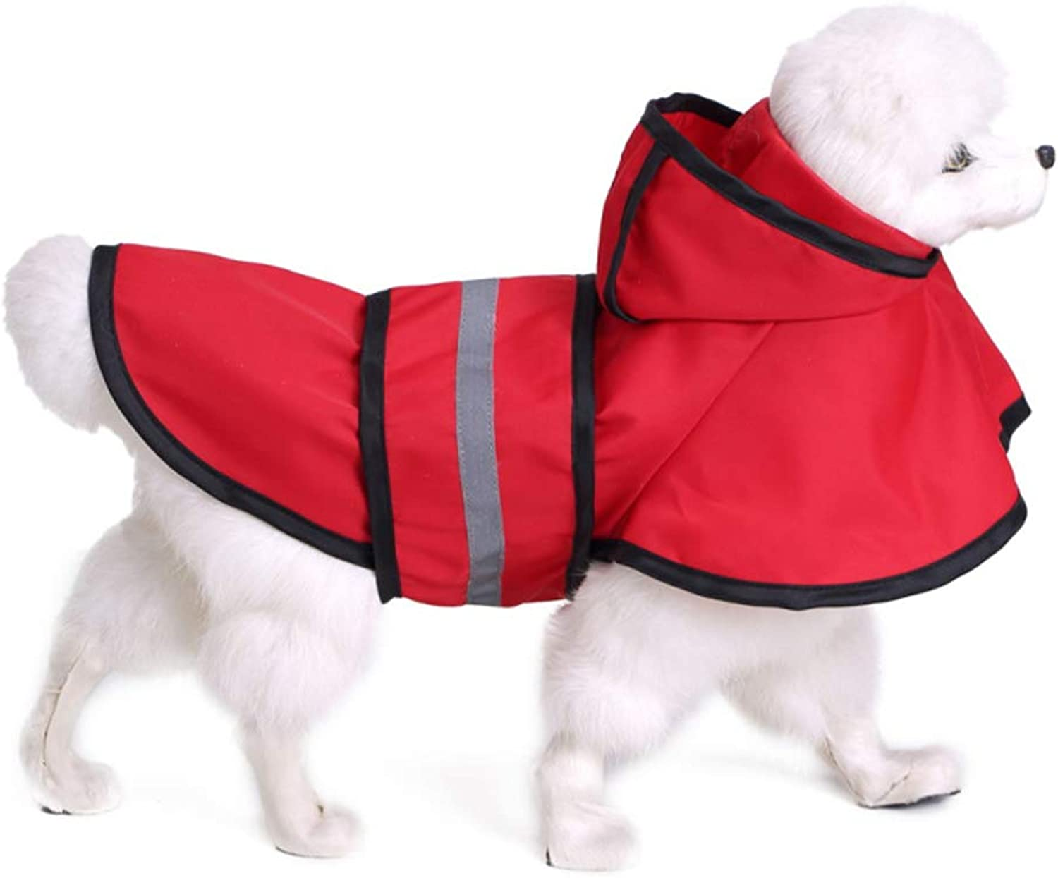 Dog Raincoats Waterproof, Puppy Reflective Casual Waterproof Jacket Poncho, Lightweight Packable Outdoor Dog Hooded Raincoat, for Small Medium Large Dog,XXL