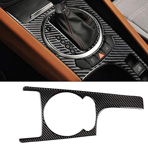 EVGATSAUTO Getrieberahmenverkleidung, Carbon-Mittelkonsole für die Auto-Mittelkonsole Zahnradaufkleber Dekorationsrahmenverkleidung Kompatibel mit Au-di TT 8n 8J MK123 TTRS 2008-2014