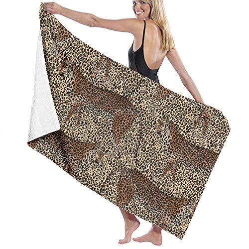 LREFON Toallas de baño de Leopardo Toalla de Ducha de Secado rápido a la Moda Toalla de baño de Playa Suave con Personalidad (31.5X51.2 Pulgadas)