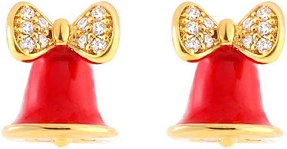 Looking back is the Popular standard shore Christmas Earrings New Red Mini Y Bell OFFicial mail order