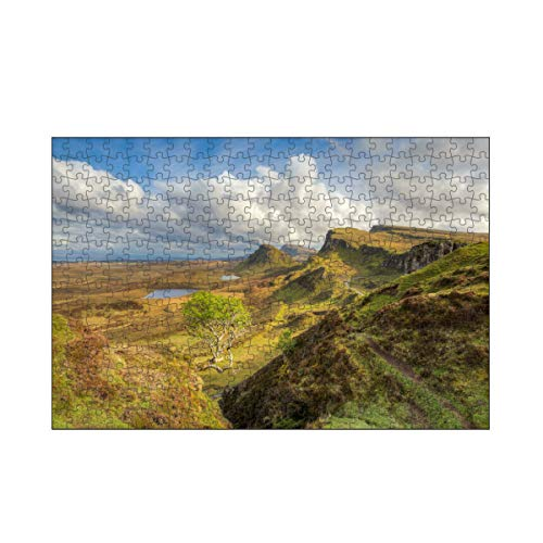artboxONE-Puzzle M (266 Teile) Natur Quiraing, Isle of Skye, Schottland - Puzzle Schottland Baum Berge