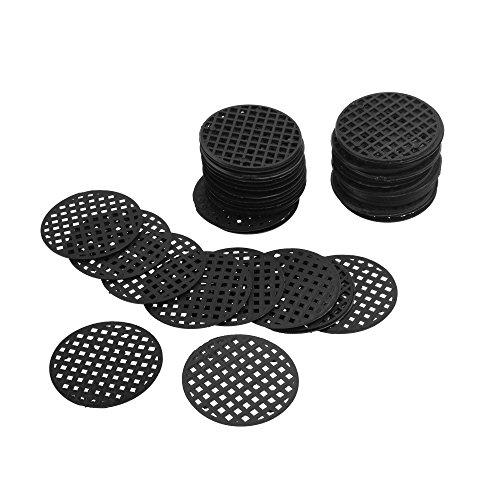 CM Cosmos 60Pcs Flower Pot Hole Mesh Pad Bottom Grid Mat Drainage Netting for Bonsai, 4.5cm Diameter
