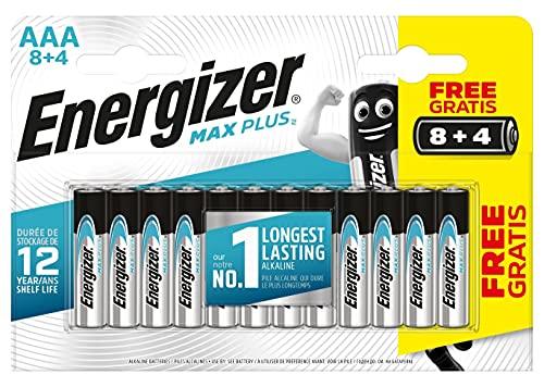 Oferta de Energizer - Pilas alcalinas MAX Plus AAA LR03, 12 undiades, Alta tecnologia y Rendimiento