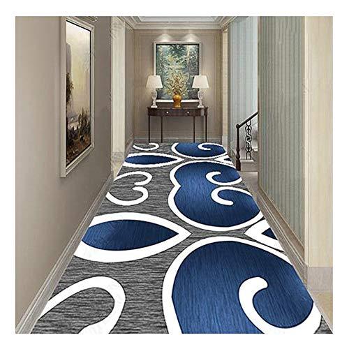 ZENGAI-tappeto passatoia per corridoio Formato Personalizzato Moderno Antivegetativa Corridore Cerchi Colorati La Zona Tappeti (Colore : A, Dimensioni : 0.8X4m)