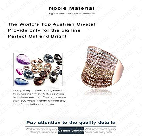Europese en Amerikaanse Mode Sieraden-Kerstmis Verloop Oostenrijkse verlovingsringen beloven Ring Rose Goud Kleur Charm Sieraden Ring, Thumby