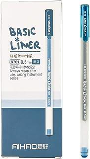 AIHAO 8761 Basic Liner Gel Ink Pens 0.5mm Fine Point (Blue-Black Color 12-Pack)