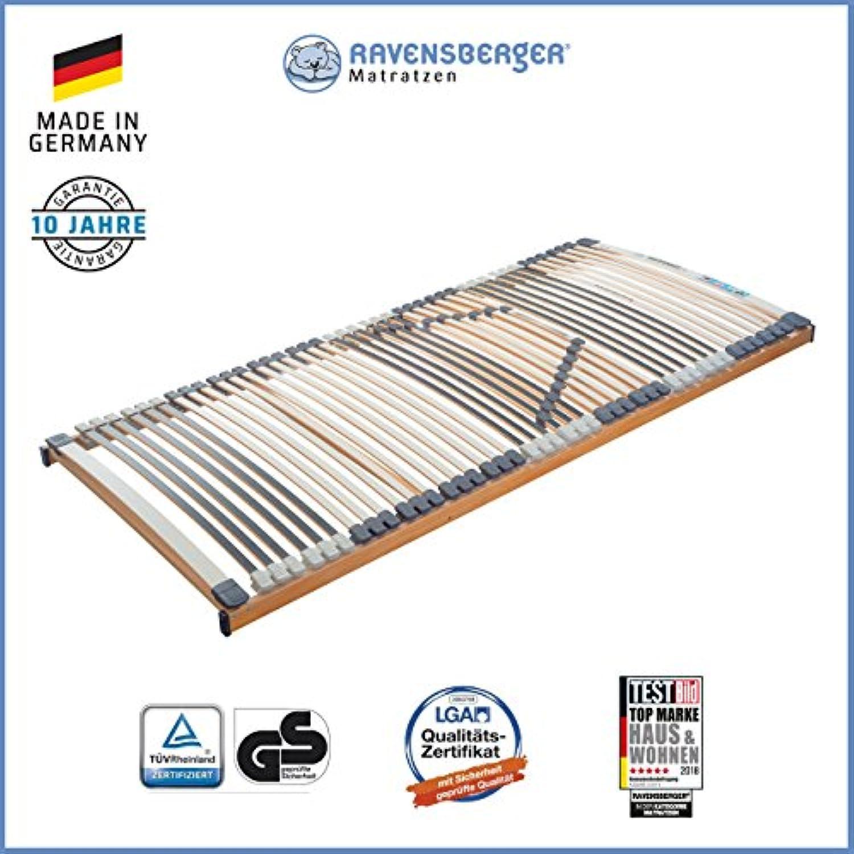 RAVENSBERGER MEDIMED 44-Leisten 7-Zonen-BUCHE-Lattenrahmen  Starr  Made IN Germany - 10 Jahre GARANTIE  TüV GS + Blauer Engel - Zertifiziert  140 x 200 cm