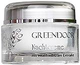 4,4 Sterne Greendoor Nachtcreme Bio Hibiscusblüte 50ml, vegane Hautpflege, normale trockene Haut, Naturkosmetik, Natur Anti-Falten Formel, natürliche Feuchtigkeitspflege, Ostern Geschenke