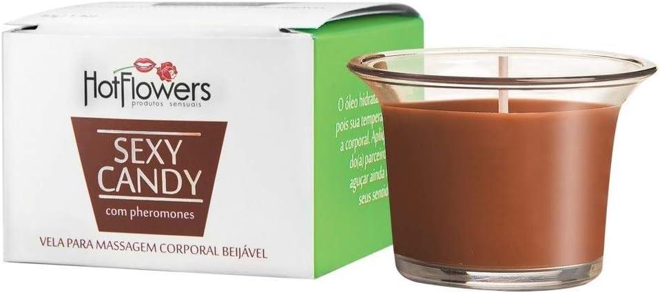 Vela Para Massagem Corporal Beijável Chocolate Com Menta