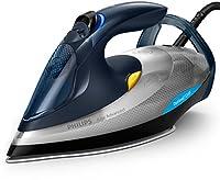 philips gc4930/10 azur advanced ferro da stiro con tecnologia optimaltemp, 2400 w, 350 ml, piastra steamglide plus, argento