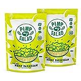 Pimp My Salad Hemp Parmesan | Vegan Parmesan | Plant Based Vegan Cheese | Plant Based Protein Powder | SuperFood | Diary Free Alternative | Tasty Alternative Hemp Cheese | Low Carb | 2 Value Packs