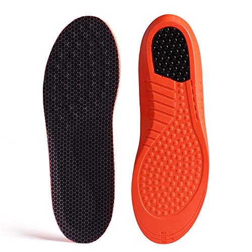 GAOAG Shock-absorptation Breathable Insole Orthotics Gel Sports Comfort Shoes Insole Neutral Arch Replacement Shoe Insole/Insert (Men's(9-10.5) Women's(10.5-12)
