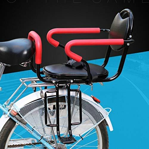 SKYWPOJU Asiento de Bicicleta Soporte de Asiento Trasero para niños, con reposabrazos y reposapiés Antideslizantes y Cinturones de Seguridad, para Asientos de niños de 2 a 8 años