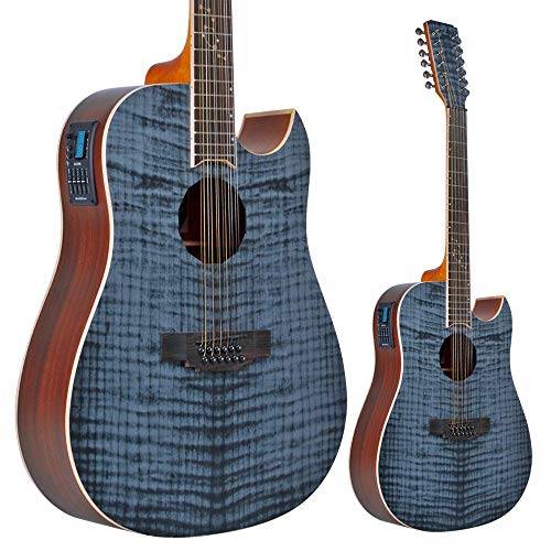Lindo B-STOCK Zodiac 12-String Electro-Acoustic Guitar with Preamp and Chromatic...