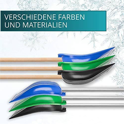 KADAX Schneeschaufel mit ergonomischem Griff, Kunststoff-Blatt, Schneeschieber, ideale Schneeschippe für kleine und große Schneemengen, Schneeräumer, stabil (Aluminium-Stiel, schwarz) - 2