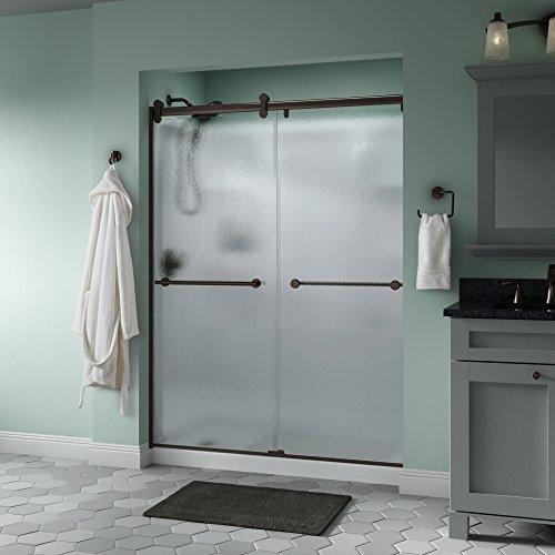 Delta Shower Doors SD3172658 Trinsic Semi-Frameless Contemporary Sliding Door 60in.x71in, Bronze Track