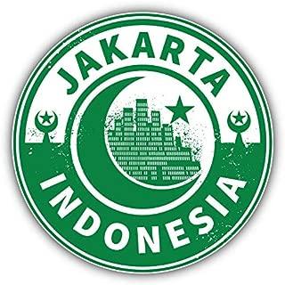 KW Vinyl Jakarta Indonesia Travel Emblem Truck Car Window Bumper Sticker Decal 5