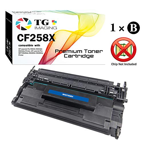 (1-Pack, High Yield, Without Chip) TG Imaging Compatible 58X 58A CF258X Toner Cartridge Use for HP Laserjet Pro M404n M404dn M404dw MFP M428dw M428fdn M428fdw Printer
