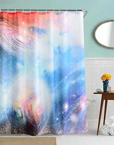 GYMNLJY 3D Digital Drucken kosmische Sterne Polyester Dusche Vorhang wasserdicht Dicke hängende Vorhang abgeschnitten , 150x180