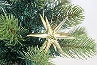 木製オーナメント 金の星 立体(小)箱入り6個セット 199/007