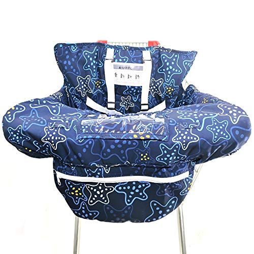Find Bargain Unisex-Baby's 2-in-1 Shopping Cart Cover and High Chair Cover with Fold-able Bag, Unive...
