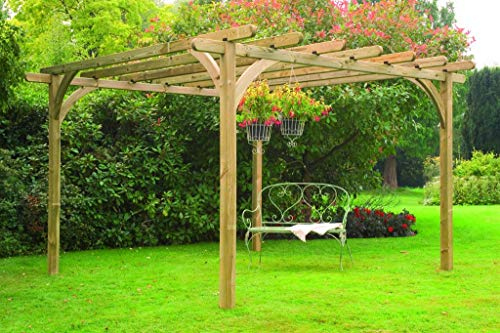 Leisure Traders Ultima Timber Wooden Garden Pergola – 3.6 x 3.6m